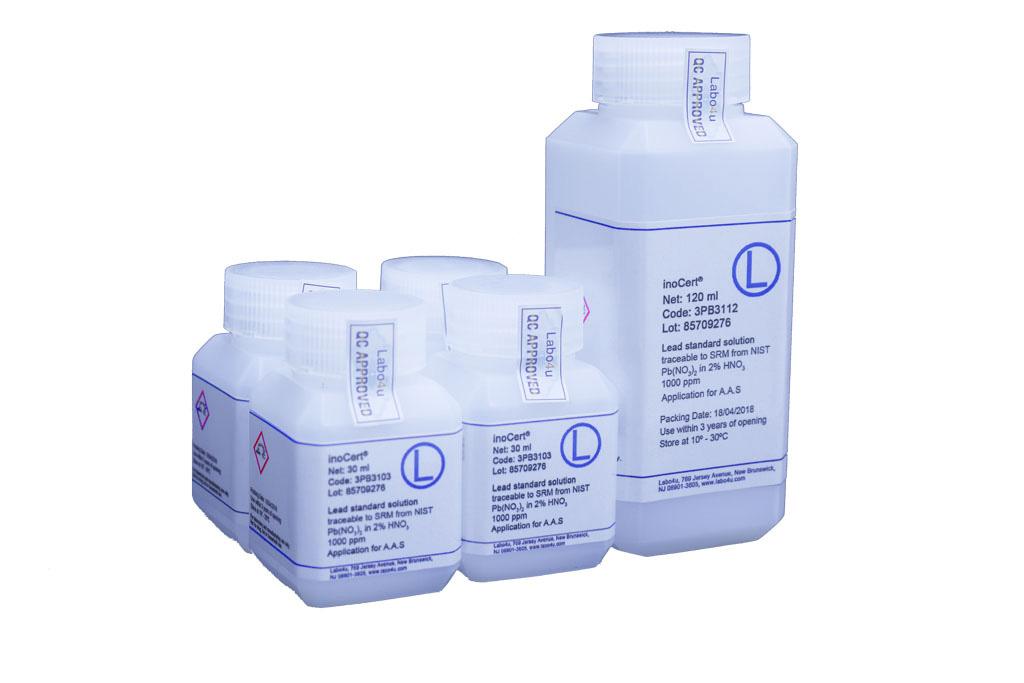 Chuẩn nguyên tố inoCert 1000 ppm cho AAS, ICP-MS